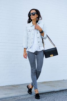 HOW TO STYLE GRAY JEANS FOUR DIFFERENT WAYS – Sequins & Things