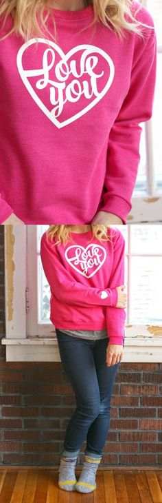 I made myself the perfect festive DIY valentine sweatshirt to get ready for love day, and I'm going to show you how to make one too. So simple!