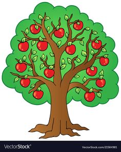 Illustration about Cartoon apple tree - illustration. Illustration of clipart, growth, environment - 19396448 Apple Tree Drawing, Tree Drawing For Kids, Cartoon Trees, Tree Clipart, Tree Images, Tree Illustration, Easy Drawings, Clip Art, Art Prints