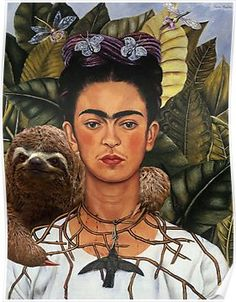 Frida Kahlo Self Portrait art painting for sale; Shop your favorite Frida Kahlo Self Portrait painting on canvas or frame at discount price. Diego Rivera, Frida E Diego, Frida Art, Frida Kahlo Artwork, Frida Kahlo Portraits, Illustration Art, Illustrations, Mexican Artists, Mexican Female Artist