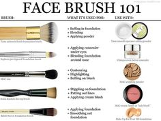 Types of make up brushes