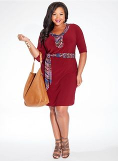 Gillian Plus Size Dress in Burgundy A chic update of a summer staple, our… Plus Size Summer Dresses, Plus Size Cocktail Dresses, Summer Dresses For Women, Plus Size Outfits, Designer Plus Size Clothing, Plus Clothing, Plus Size Designers, Curvy Fashion, Plus Size Fashion