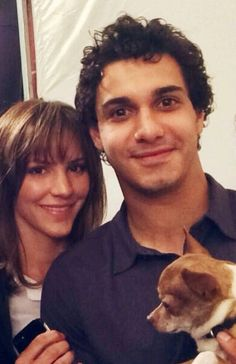 "walter-and-paige-haven: Lovely Kat and Elyes pic with her dog posted by Maelle! I think it might be from when they were filming the first episode! :) Oh my god I was so afraid I saw my name and I say to miself ""Whaaaat how did she know my name ?!!! Oh my name is on my description …"""