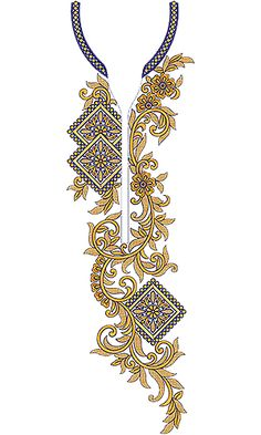 Neck Embroidery Design 19771 Embroidery Neck Designs, Bead Embroidery Patterns, Beaded Embroidery, Kurti Sleeves Design, Kurta Neck Design, Textile Pattern Design, Neckline Designs, Flower Coloring Pages, Collar Pattern