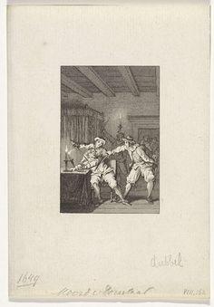 Reinier Vinkeles | Moord op Isaäc Doreslaer, 12 mei 1649, Reinier Vinkeles, Cornelis Bogerts, Jacobus Buys, 1783 - 1795 | Moord op Isaäc Doreslaer door gemaskerde mannen, Den Haag 12 mei 1649.