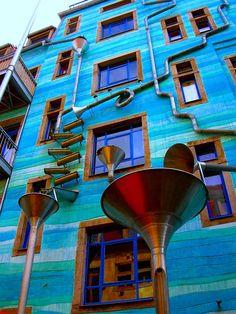 Una casa que hace musica cuando llueve. En navidad sonaran villancicos? Dresden. Alemania