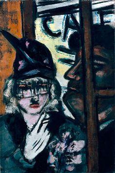Max Beckmann: Little pub / Revolving door, 1944
