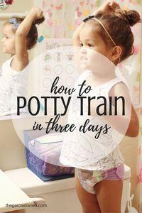 how to potty train in three days + free potty training chart
