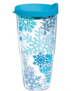 Snowflakes Wrap with Lid - tumbler--Tervis Tervis Tumbler, Tumblers, Christmas Goodies, A Boutique, Drinkware, Snowflakes, 3 D, Drinking, Household