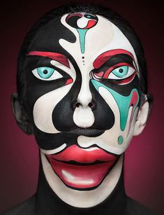 Fstoppers alexander khokhlov 1 Artist Turns Models Faces Into Optical Illusions With Makeup. This series is the work of both Alexander and a Moscow makeup artist Valeriya Kutsan.