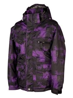 The 50/50 Purple Erosion Print Boys Ski Jacket is a key part of any ski or snowboard kit. Each piece of Surfanic kit is built to withstand the most brutal conditions, and this high quality purple print boys ski jacket is no exception. Packed with practical features in a beautiful design, the purple Surfanic 50/50 Erosion boys ski jacket offers a great fit and ultimate weather protection. Not quite what you are looking for?  Take a look at the Boys Ski Jackets…