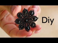 Öğretici Video-Çok Fonksiyonlu Çiçek Broş (Kolye-Toka-Broş)/Dairesel Herringbone Tekniği - YouTube
