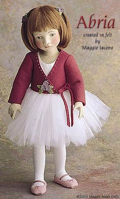 Abria 16.5 Inch Tall Felt Doll Edition Size: 70 Created in 2001