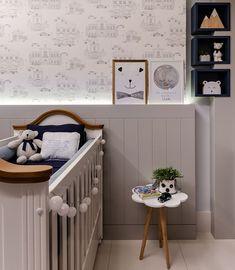 "Mᴀʀᴄᴇʟᴀ Gᴀʙᴇᴛᴛᴏ no Instagram: ""Todos os detalhes desse projeto que amamos desenvolver • Projeto Marcela Gabetto"" Nursery Room, Boy Room, Kids Bedroom, Nursery Ideas, Interior Paint, Interior Design, Wall Trim, Baby Room Design, Baby Boy Nurseries"