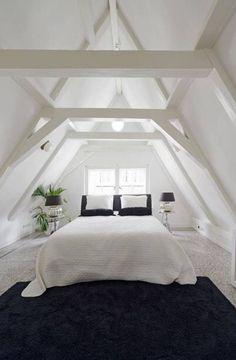 Dachboden Beautiful Spacious Canal House - Apartments for Rent in Amsterdam, Noord-Holland, Netherla Attic Loft, Loft Room, Attic Office, Attic House, Attic Renovation, Attic Remodel, Attic Bedrooms, Attic Design, Design Bedroom