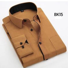 men's long sleeve dress shirt bussines work formal shirts