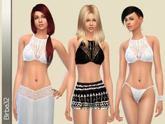 The Sims Resource: Crochet gypsy set by Birba32 • Sims 4 Downloads