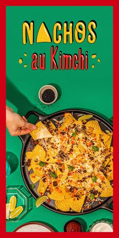 Kimchi, Nachos, Fromage Cheese, Tailgate Food, Mozzarella, Food Network Recipes, Love Food, Mousse, Biscuit