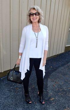 Fifty, not Frumpy: Angel Cardigan & leggings from the website BodyLanguageByConnie