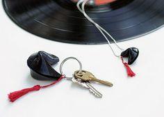upcycled vinyl records