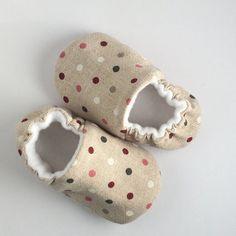 Baby soft spotty shoe by DottyRobin on Etsy