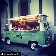 ideas for food truck design ideas mobiles coffee shop Kombi Trailer, Vw T1 Camper, Kombi Motorhome, Food Trailer, Volkswagen Bus, Coffee Truck, Coffee Carts, Coffee Drinks, Food Trucks