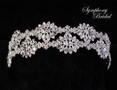 Symphony Bridal Crystal Wedding Headband 7723cr - Affordable Elegance Bridal -