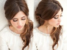 Obsessed with her lashes + #makeup I Hair and Make-up by Steph I #bridal #hairstyle #eyelashes