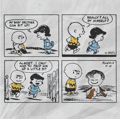 Linus' first Peanuts comic strip. September 19th, 1952.