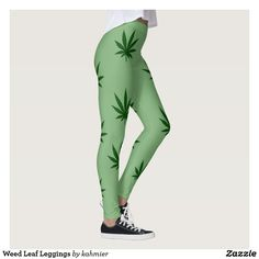 Weed Leaf Leggings 2