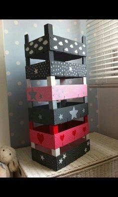 Reciclar, Reutilizar y Reducir : Fabulosas ideas para reutilizar cajas de madera Diy Home, Home Decor, Fruit Box, Diy Casa, Creation Deco, Ideias Diy, Diy Projects To Try, Diy For Kids, Diy And Crafts