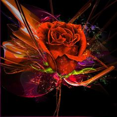 Romancing the Rose...Fractal Rose ...By Artist Unknown... @;}~