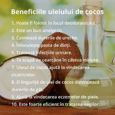 20 de Intrebuintari neobisnuite ale uleiului de cocos Fitness Nutrition, Health And Nutrition, Health Tips, Pregnancy Problems, Body Hacks, Eat Smart, Health Eating, Loving Your Body, Good To Know