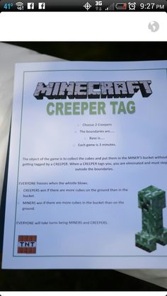 Circle River Creations - Birthday: Minecraft Party :: Minecraft spin off capture the flag! And Minecraft Bingo Birthday Party Games, Birthday Fun, Birthday Ideas, 10th Birthday, Party Party, Sleepover Party, Birthday Presents, Party Time, Minecraft Party Games