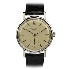 Stainless Steel Amagnetic Wristwatch Ref 3417 circa 1950s by Patek Philippe