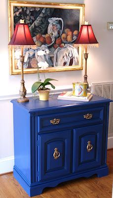 Painted Table-Annie Sloan Chalk Paint in Napoleonic Blue