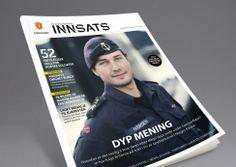 Innsats magazine by Forsvaret. Pinned from www. Magazine Design, Baseball Cards