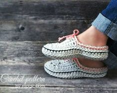 Crochet pattern- family slipper-clogs with optional extra outsoles,winter,kids and adult sizes,loafers,footwear,house,bulky yarn,quick diy