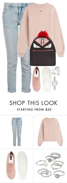 """""""Unbenannt #2200"""" by luckylynn-cdii ❤ liked on Polyvore featuring Topshop, Off-White, Won Hundred, Candie's and Kate Spade"""