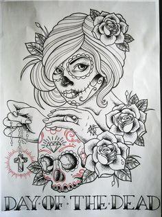 Skull tattoos for women10907