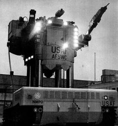 STRANGE MILITARY EQUIPMENT - THE BEETLE - USAF FIRST ROBOT PURCHASE IN 1962 FOR FIGHTING IN IRRADIATED AREAS - BEFORE STARWARS!