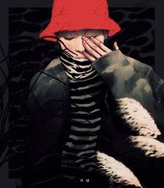 @local_asshol  Rap Monster BTS fanart