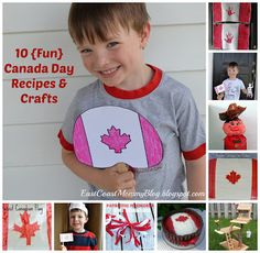 Round Up of 10 {Fun} crafts and treats for Canada Day