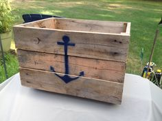 Anchor Crate by CandBWoodShop on Etsy