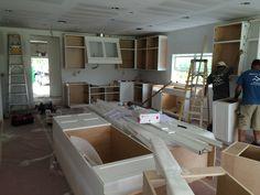 Kitchen being assembled - getting better