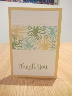 Thank you card with Stampin Up Flower Shop, craftycarolinecre...