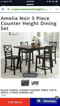 Pin By Cara Slattery On New House Stained Table Counter Height Dining Sets 5 Piece Dining Set