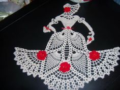 New Hand Crochet Crinoline Lady; found on ebay.