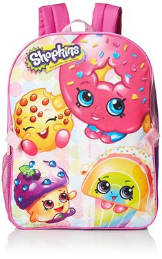 Shopkins Little Girls Backpack with Lunch, Pink, One Size: This backpack with lunch kit features the popular Shopkins characters on a fun bright colored background. Lunch kit detaches and is insulated to keep food and beverages cold or warm. Best Kids Backpacks, Girl Backpacks, Little Girl Backpack, Shopkins Characters, Shopkins Girls, Back To School Deals, Kids Furniture, Travel Style, Little Girls