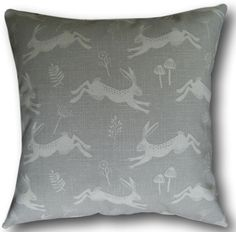 Cushion Covers made with Fryetts Jump Leaping Hares Grey Scandinavian Pillows Animal Cushions, Scatter Cushions, Cushions On Sofa, Cushion Covers Uk, Cushion Cover Designs, Yellow Throw Pillows, Decorative Throw Pillows, Duck Egg Blue Grey, Scandinavian Pillows